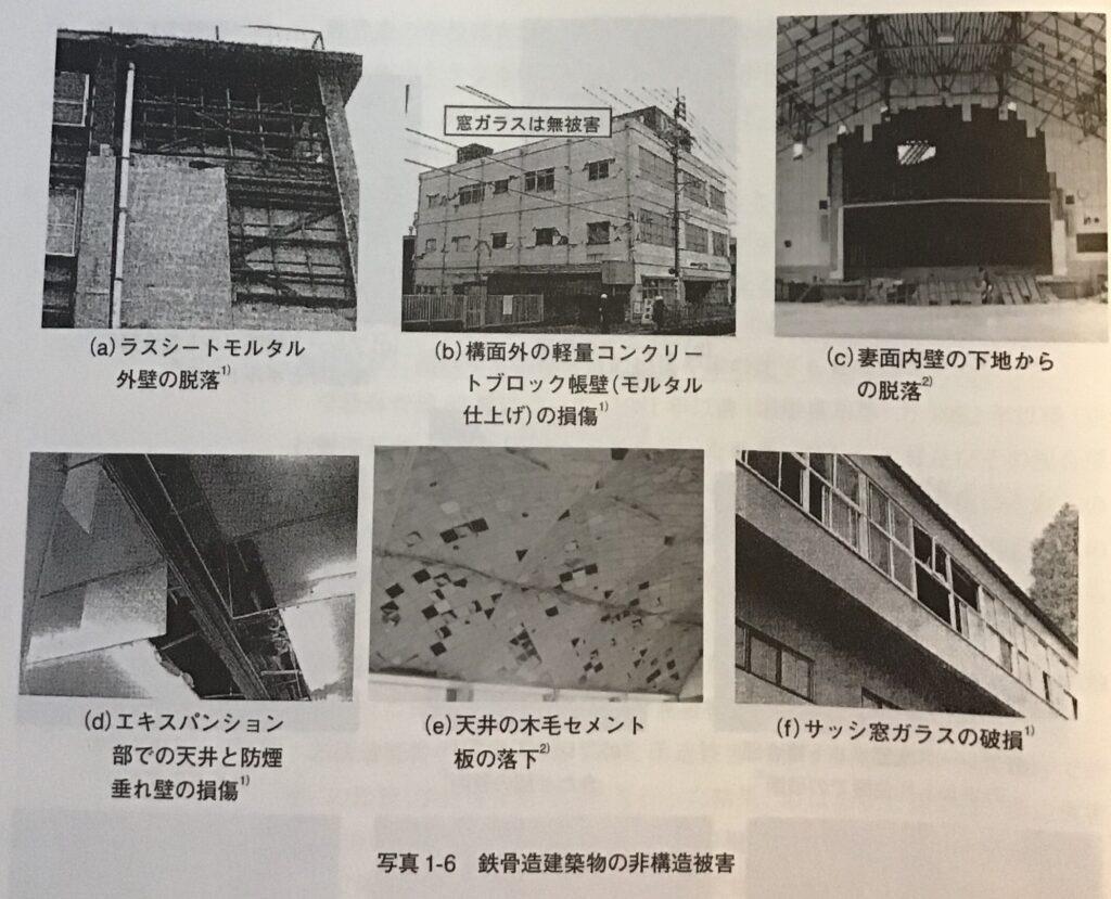 写真1-6 鉄骨造建築物の非構造被害