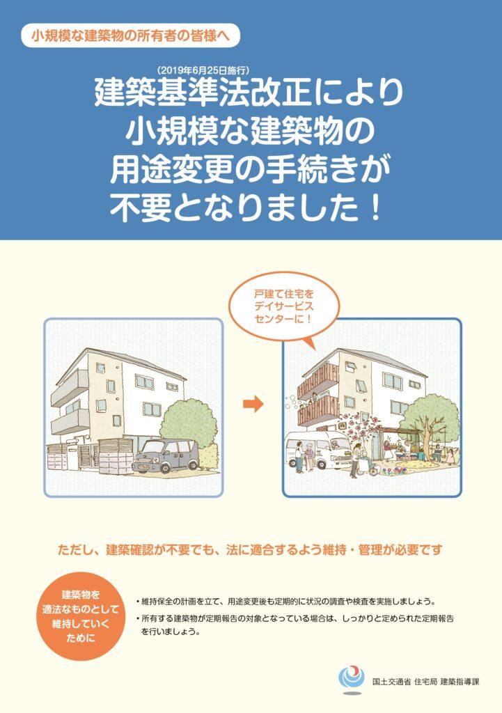 建築基準法改正により小規模な建築物の用途変更の手続きが不要となりました 1